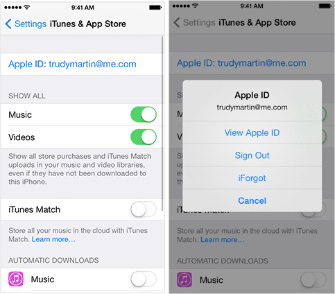How to get rid of apple id on iphone