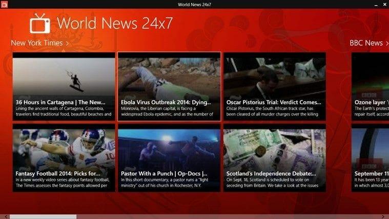 World News 24x7 For Windows