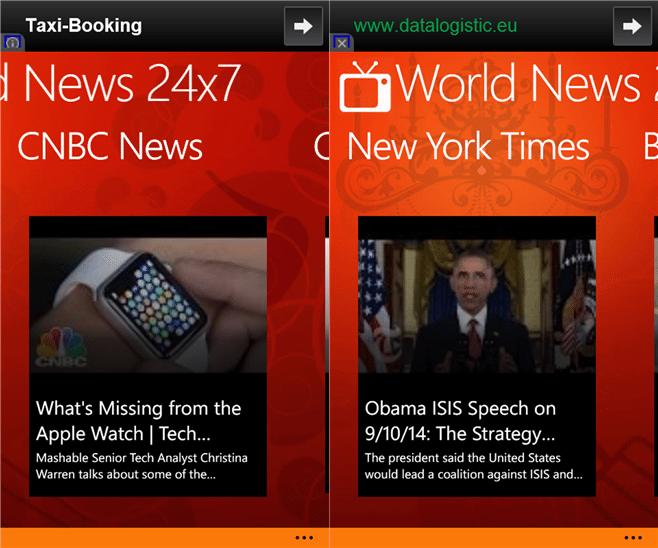 World News 24x7 Windows Phone