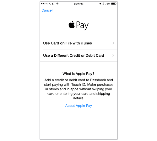 how to bring up apple pay on iphone x