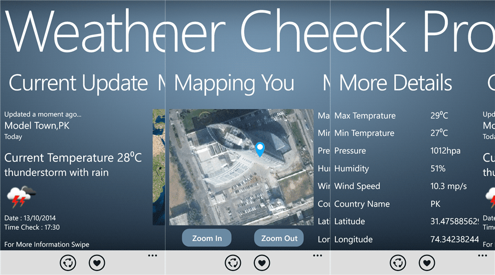 Weather Check Pro features