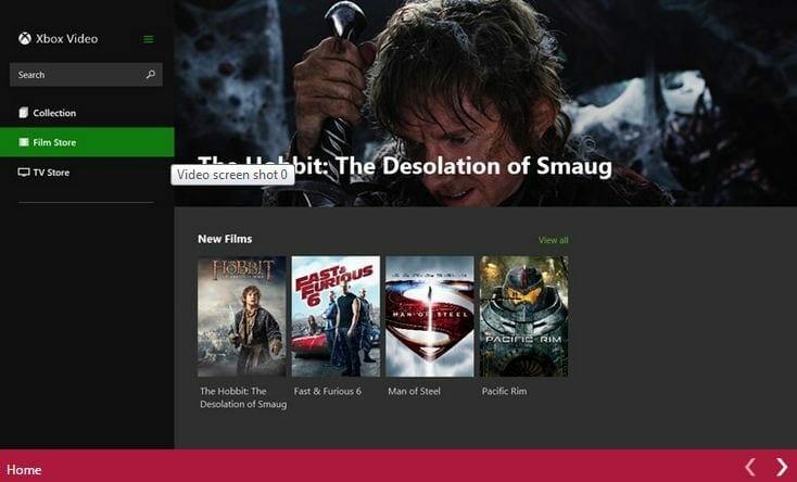 Windows 8 video app