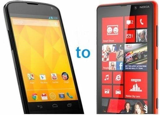 android phone to windows phone