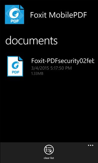 Foxit MobilePDF-Winndows Phone (2)