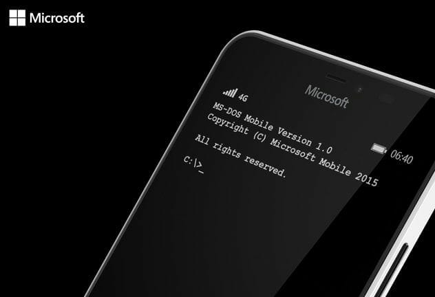 Download MS-DOS for Windows Phone devices