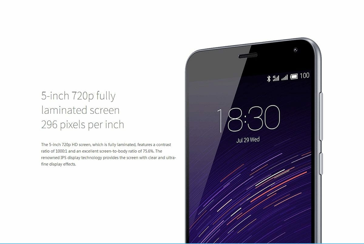 MEIZU M2 720p Touch Screen