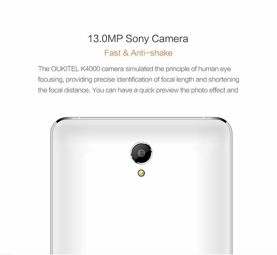 OUKITEL K4000 Camera