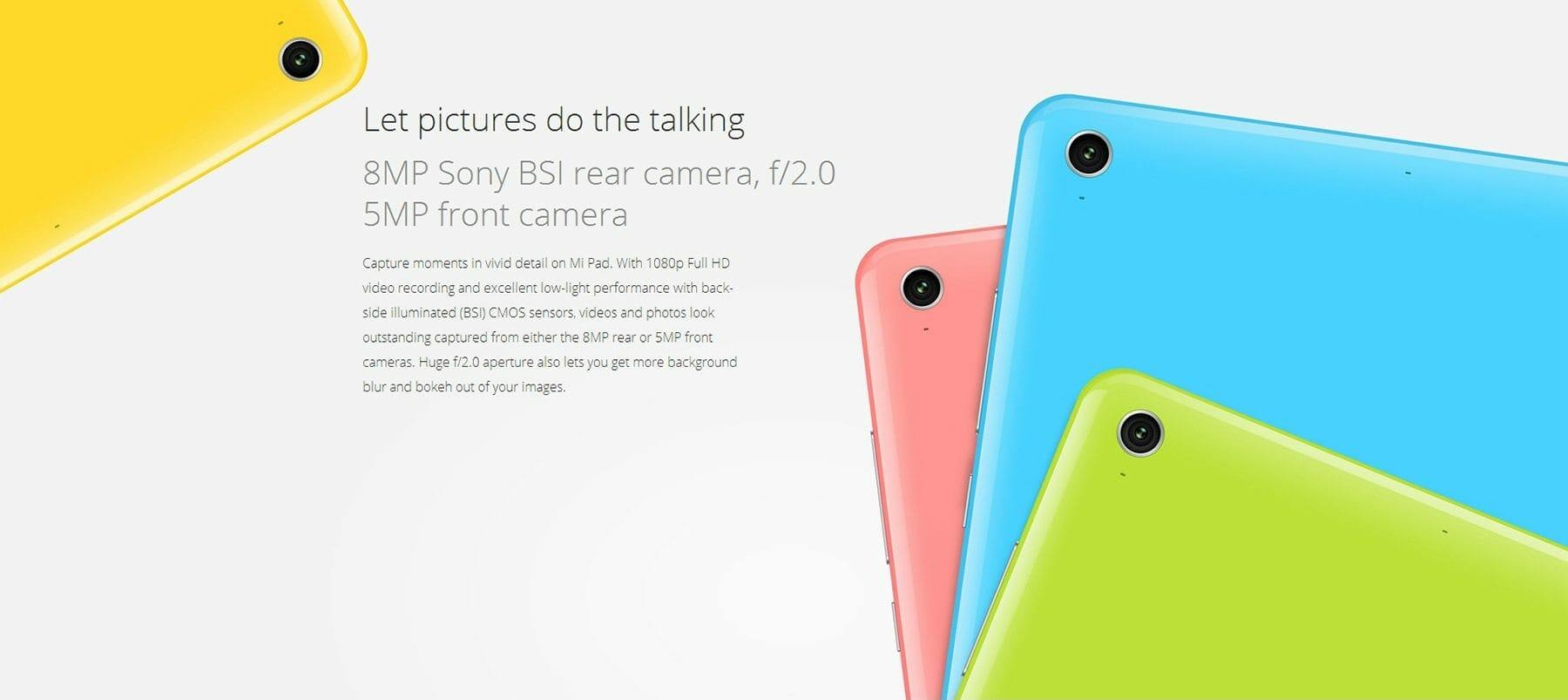 XiaoMi Mi Pad Camera - XiaoMi Mi Pad 8MP Camera, 2GB Ram and 6700 mAh Battery
