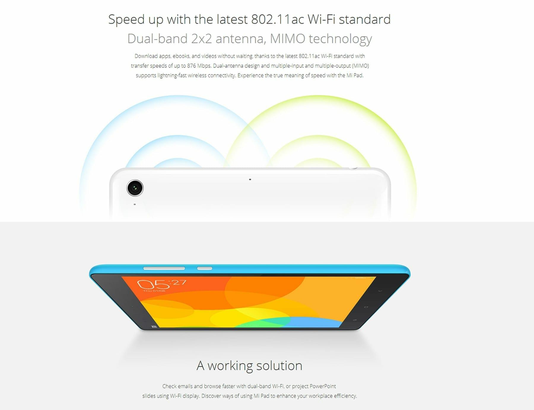 XiaoMi Mi Pad WiFi - XiaoMi Mi Pad 8MP Camera, 2GB Ram and 6700 mAh Battery