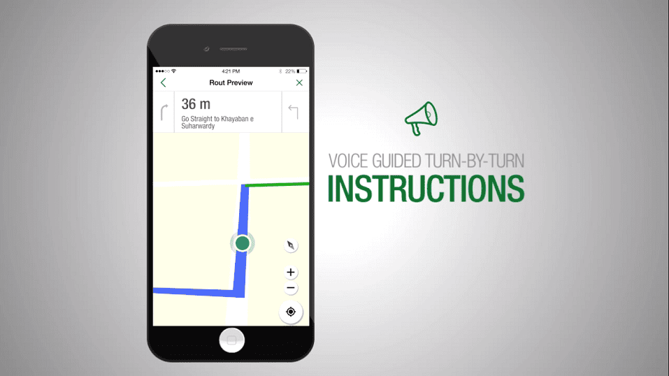 TPL Maps Voice Guided Turn by Turn Instructions