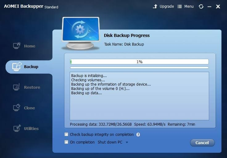 Aomei Backupper Is A Simple Free To Use Backup Software For Your Pc
