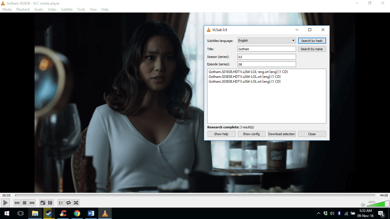 VLC VLSUB 0.9.13 Working