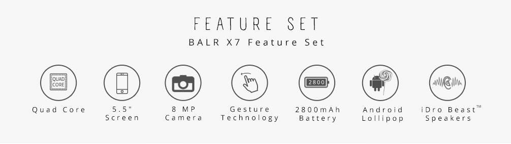 iDroid Balr X7 Features