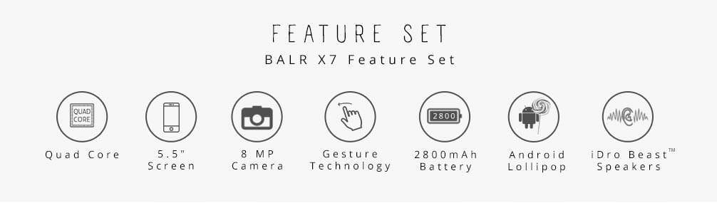 iDroid Balr X7 Features