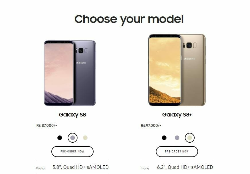 Samsung Galaxy S8 Pre Order 1 - Here are the Official Prices of Samsung Galaxy S8 and S8+ in Pakistan