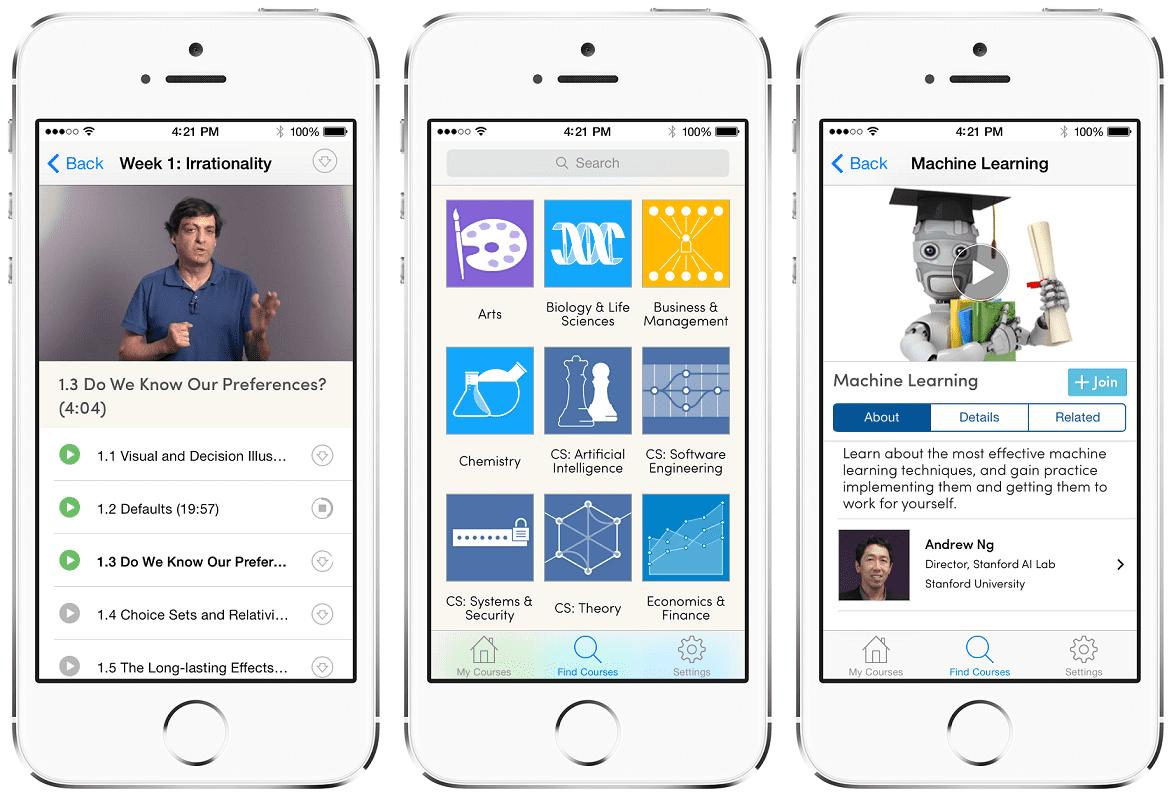 Coursera App Improve your skills