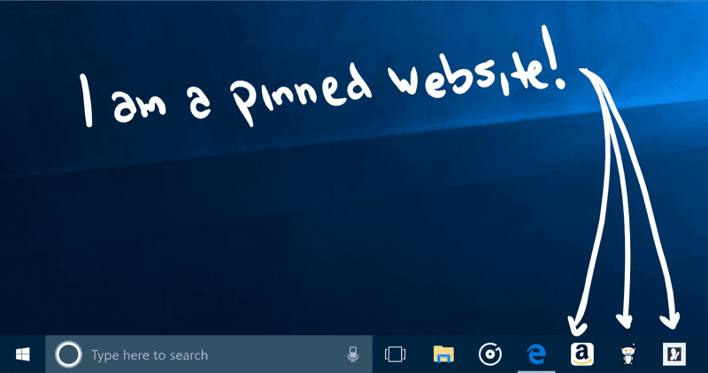 Windows 10 websites