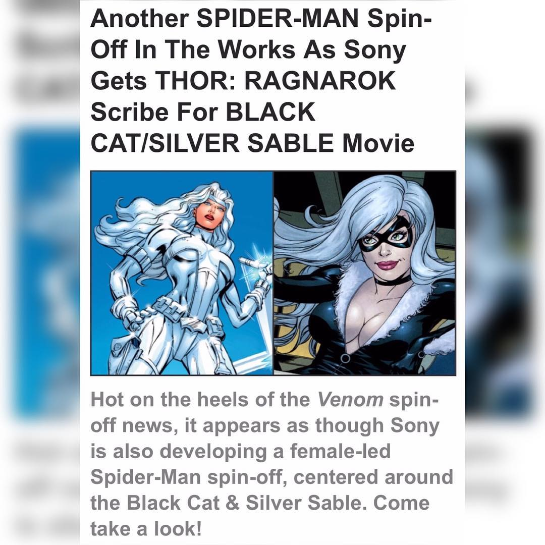 Silver and black - Sony is planning distinctive spin-offs to Spider-man Homecoming!