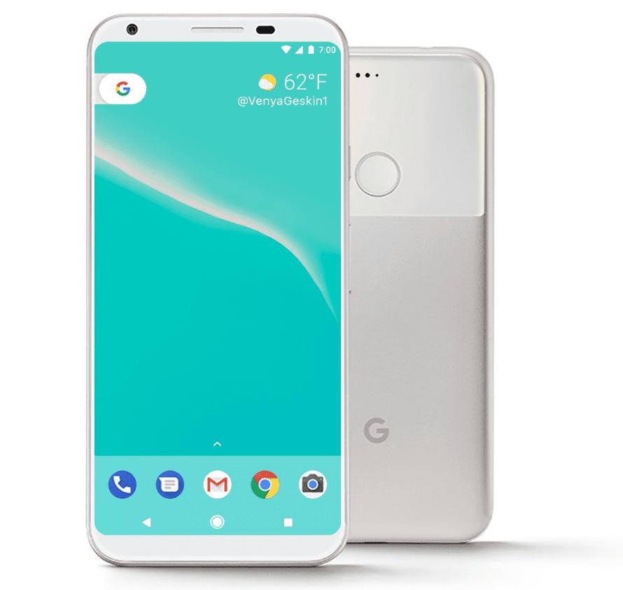 Google Pixel 2 Bezel Less