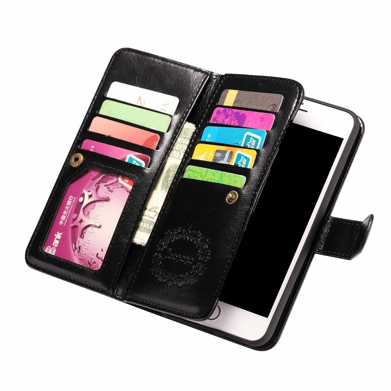 Iphone  Plus Leather Wallet Case Amazon