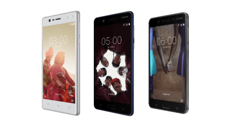 Nokia Phones 3, 5 and 6