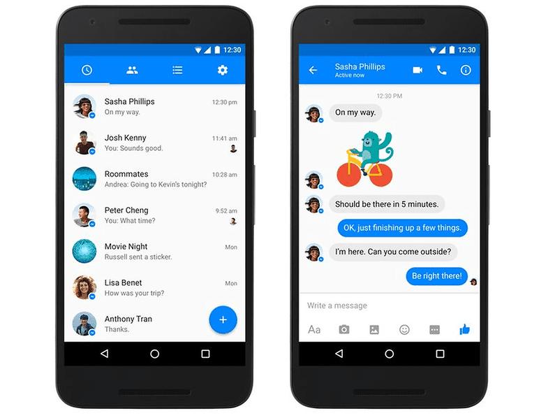 Black Blue Facebook Messenger Theme