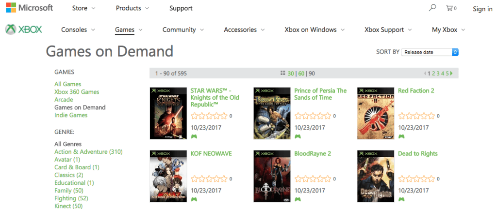 The first list of Original Xbox Games Backward Compatibility