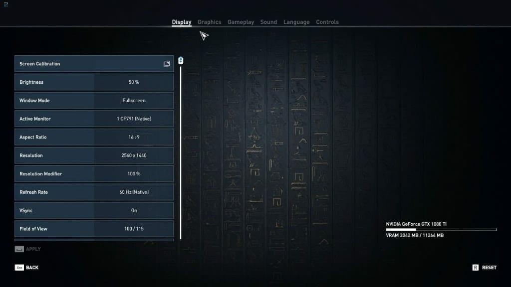 Assassins Creed Origins PC Settings - 1