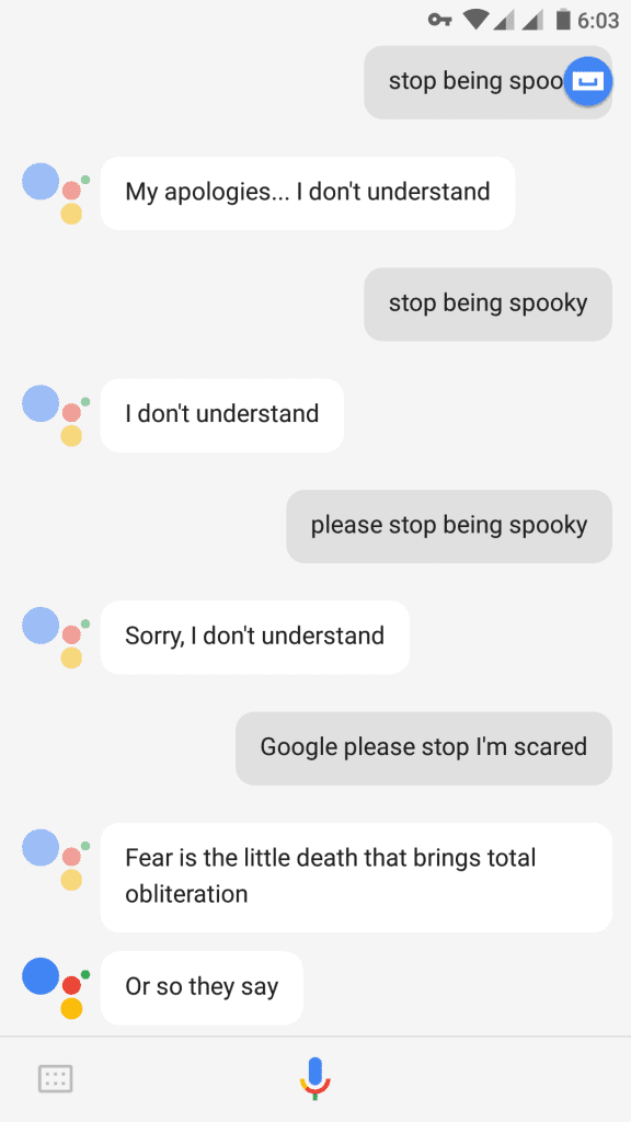 Google Assistant Halloween Easter Egg takes its job seriously.