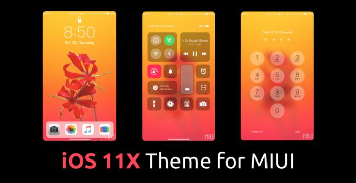 iOS 11 X MIUI Theme