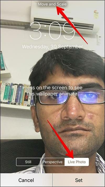 iOS photos set live