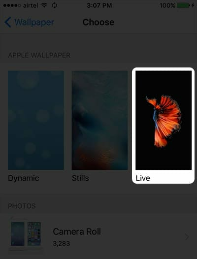 Live Wallpapers on iPhone, iPod and iPad