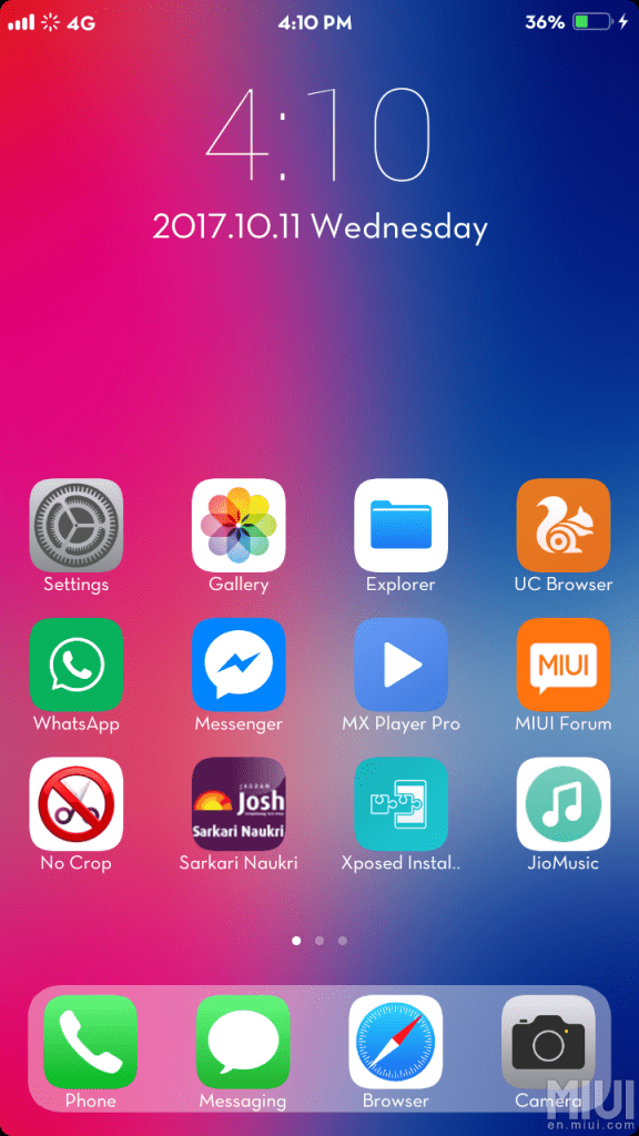 Download & Install iPhone X MIUI Theme for MIUI 8/9 Xiaomi Devices