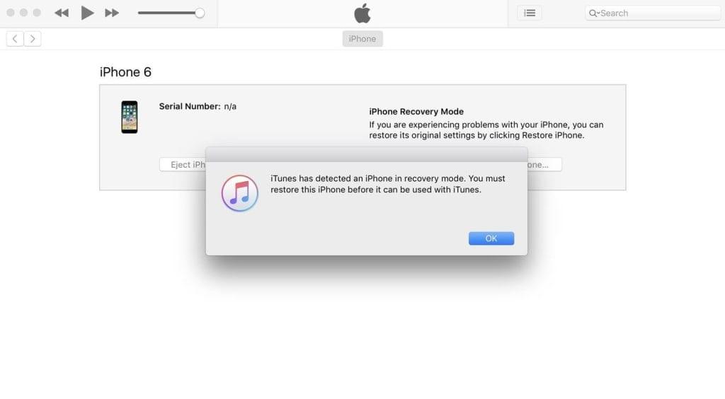 iTunes DFU Mode
