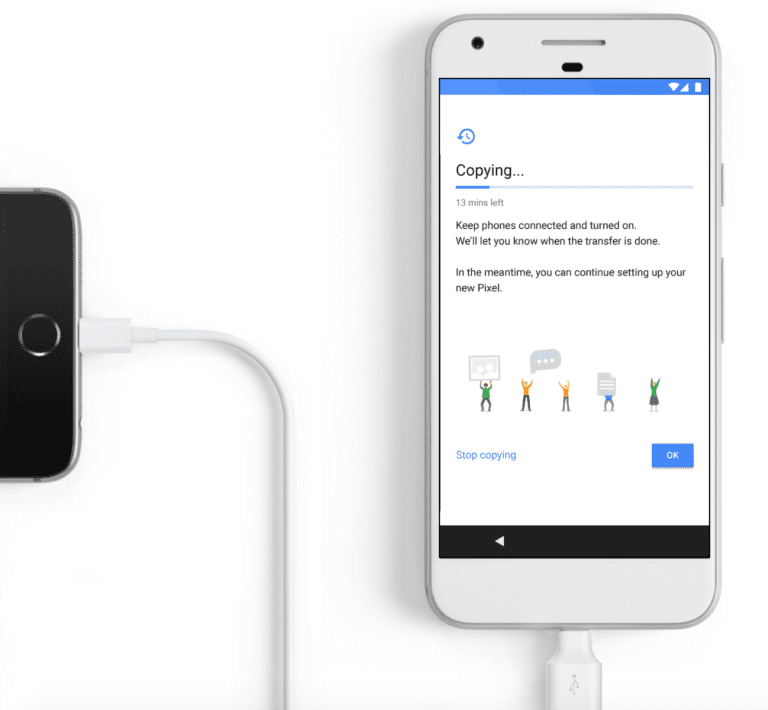 Switch from iPhone to Google Pixel 2