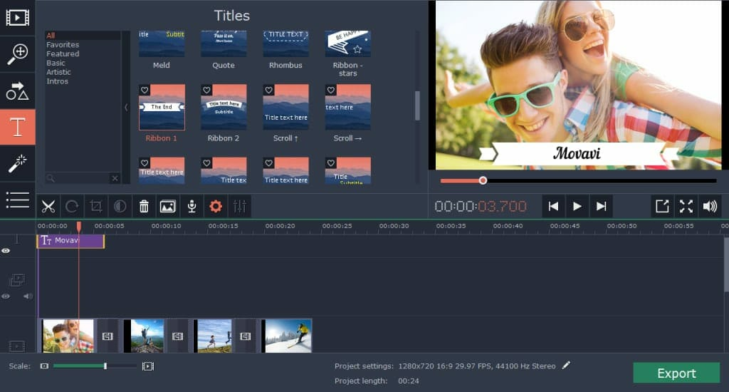 Movavi Video Editor for Mac
