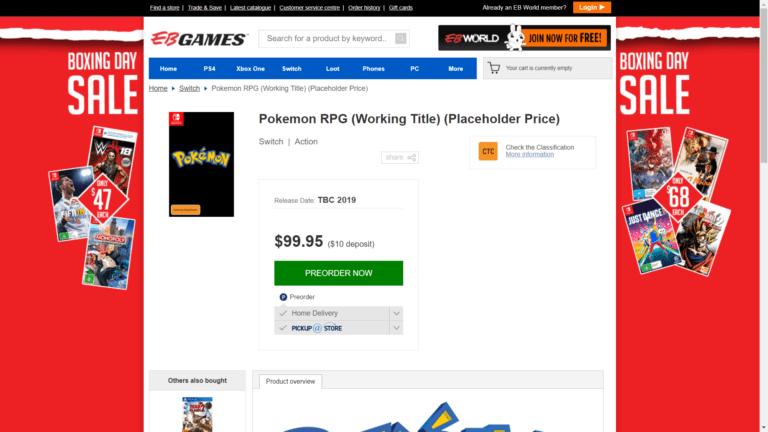 Pokemon RPG for Nintendo Switch
