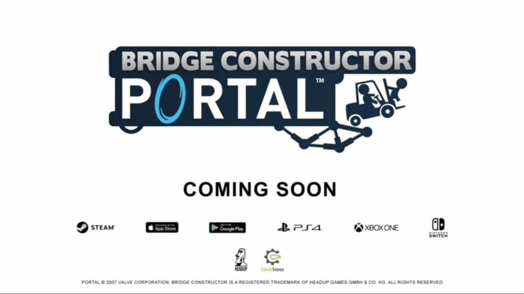 Bridge Constructor Portal announced for PS4, Xbox One, Switch, PC, and smartphones