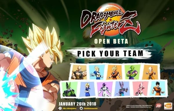 Dragon Ball FighterZ Open Beta Characters
