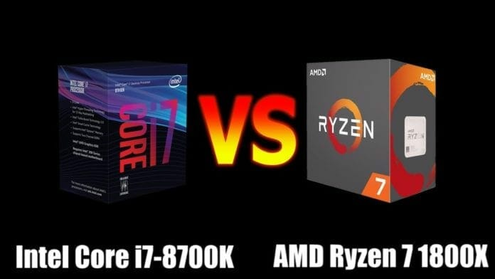 Intel Core i7 8700K vs AMD Ryzen 1800X Best Gaming CPU
