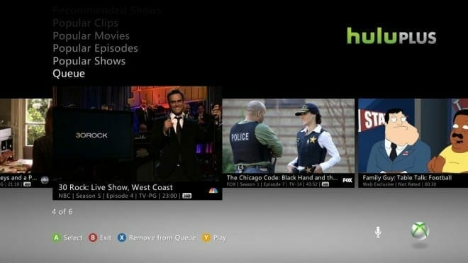 Hulu supports 60 FPS on Xbox