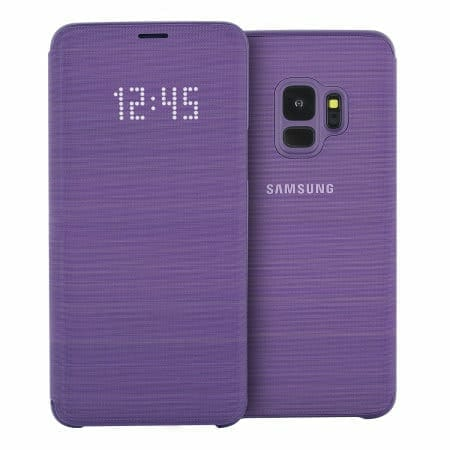 Samsung Galaxy S9 / S9+ Official Cases: LED Flip Wallet Cover - Purple