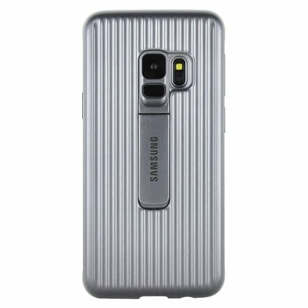 Samsung Galaxy S9 / S9+ Official Cases: Protective Stand Cover Case- Silver
