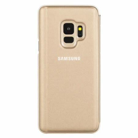 Samsung Galaxy S9 / S9+ Official Cases: Clear View Stand Cover Case - Gold