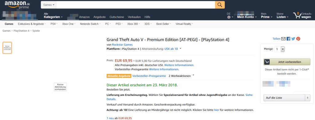 Grand Theft Auto V Premium Edition for PS4