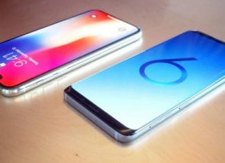 Samsung Galaxy S9 vs iPhone X render