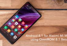 Download Android Oreo 8.1 for Xioami Mi Mix 2 using OmniROM 8.1