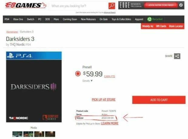 Darksides 3 Release Date Listing