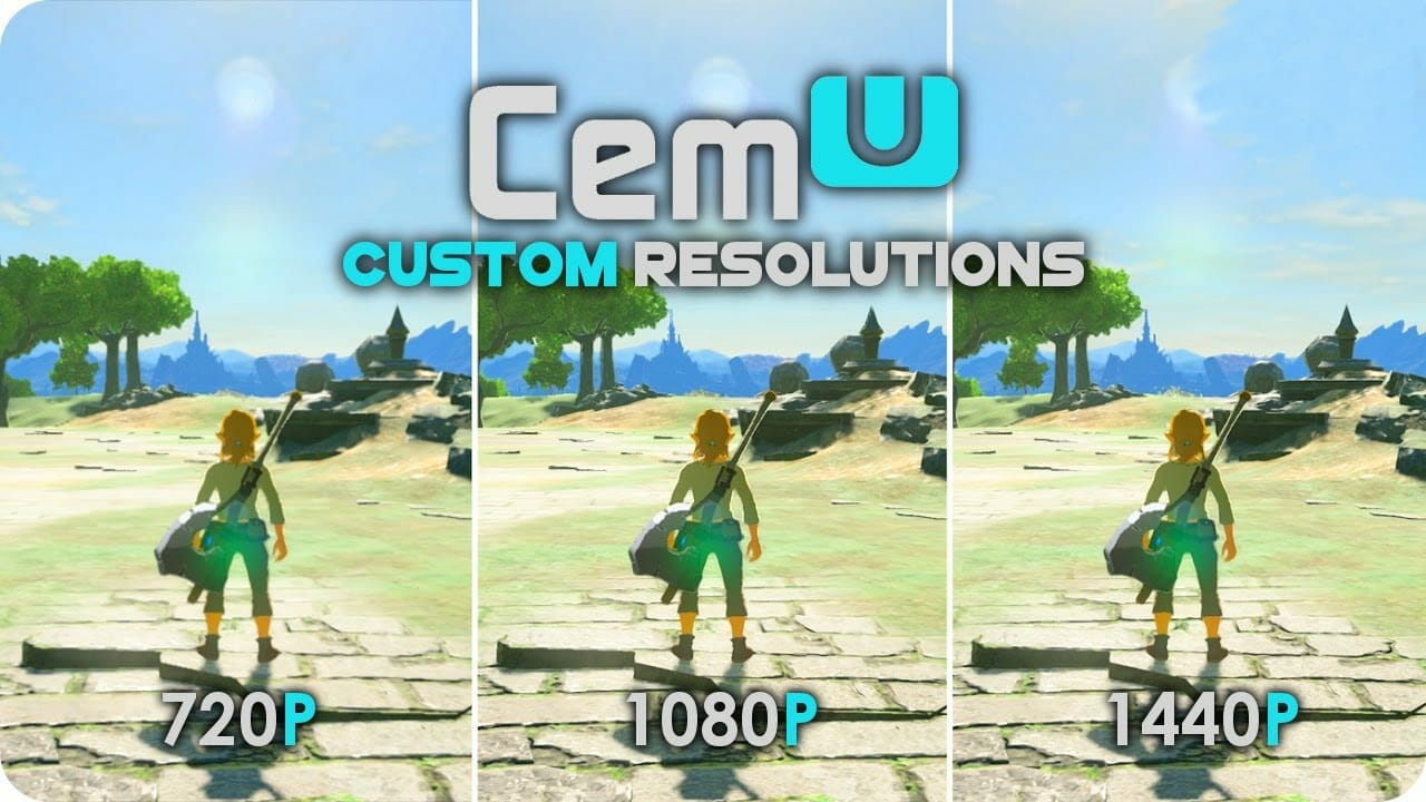 Cemu 1.12.0 offers the option to change resolution