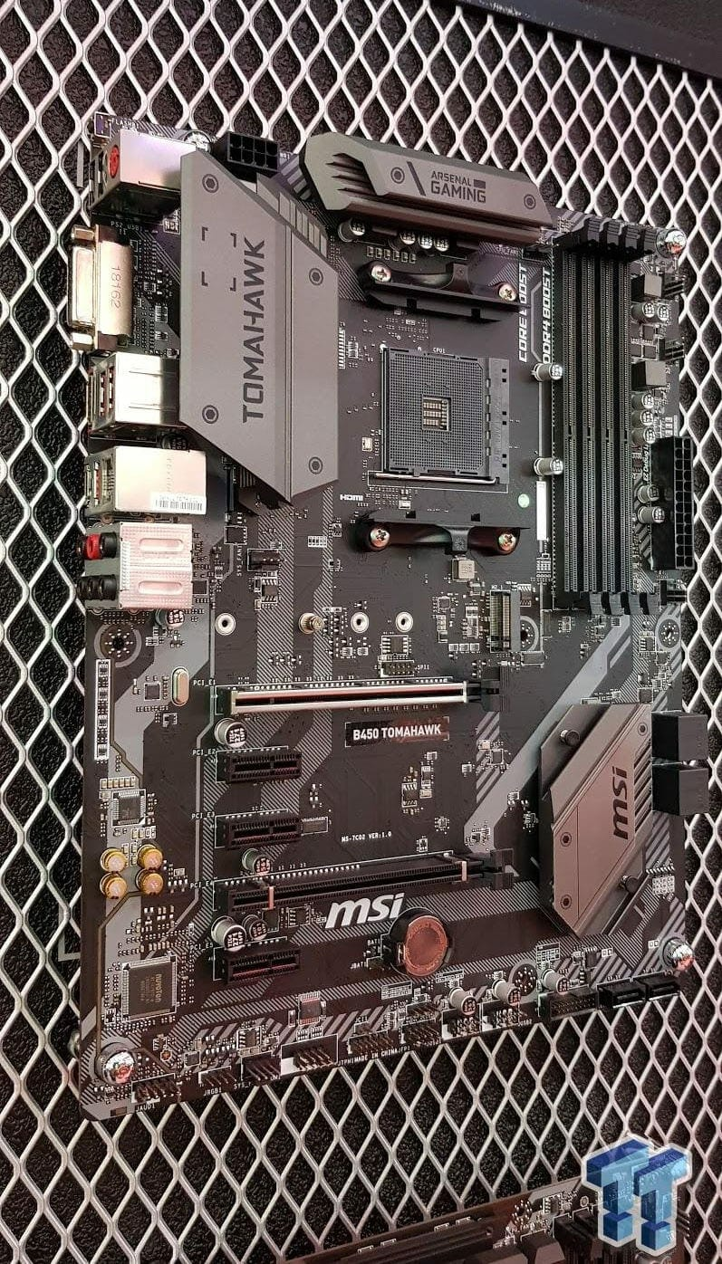 MSI B450 TOMAHAWK Motherboard Compatible with Ryzen 1 & 2 Spotted